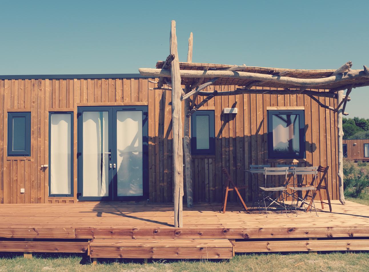 Bois Flotté Pour Pergola evo33 for 6 guests - camping les bois flottés de camargue